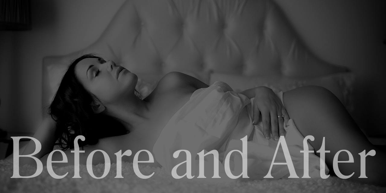Edmonton Boudoir Photography Before and After Gallery